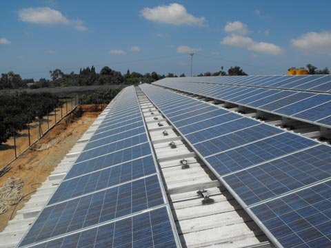 ground mounted solar protection system