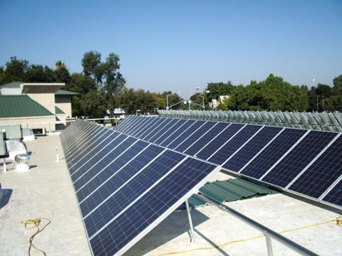 roof mounted solar protection system